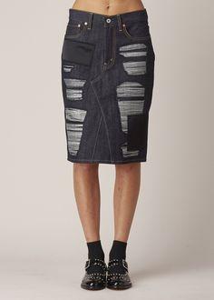 Junya Watanabe Denim Skirt (Indigo)