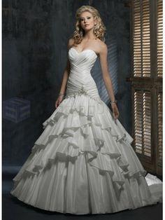 Bordeaux Taffeta Strapless Sweetheart Neckline A-line Wedding Dress