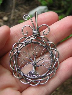 MADE TO ORDER: Celtic Norse Tree of Life Wire Wrapped Pendant