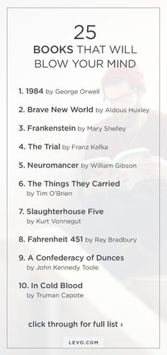 25 books that will blow your mind. I'm pretty proud to have read most of these books.gonna have to read the rest now Book Challenge, Reading Challenge, Reading Lists, Book Lists, I Love Books, Books To Read, Ms Gs, What To Read, Book Nooks
