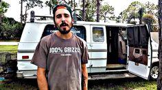 Campervan Cory - Walk-through of his 1992 GMC Vandura homemade self-built DIY camper van conversion.