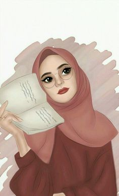 hijab - Best Quality Wallpapers for Your Phones Foto Cartoon, Tumblr Cartoon, Girl Cartoon, Cartoon Art, Tmblr Girl, Muslim Pictures, Hijab Drawing, Girly M, Islamic Cartoon