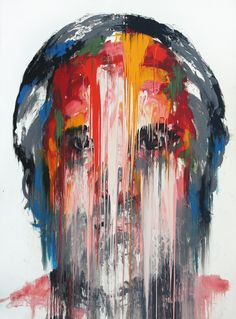 In Korean painter KwangHo Shin's mural-scale portraits, smeared and scratched colors communicate emotions similarly to a furrowed brow or creased smile line. Shin obliterates the recognizable… Abstract Portrait, Portrait Art, Portraits, A Level Art, Art Inspo, Painting & Drawing, Contemporary Art, Art Photography, Sketches