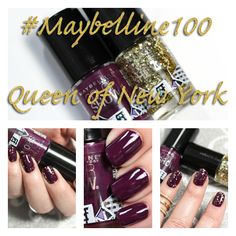 Maybelline 100 Years Color Show Nail Lacquers swatches via @alllacqueredup