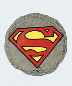 Superman Logo Stepping Stone