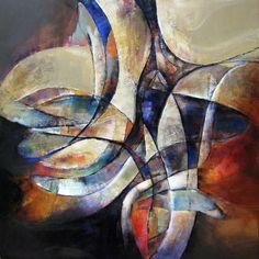 Genesis II   acrylic on canvas   48 x 48 Remi Filion