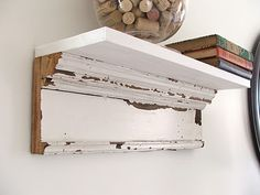 Clever! Old trim becomes a shelf @cleverlyinspired