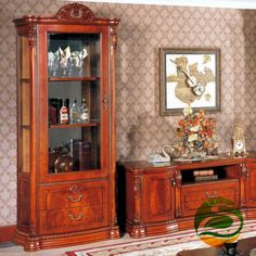 (1200.00$)  Know more - http://aicl6.worlditems.win/all/product.php?id=851338694 - Wine cooler Classic wood wine cabinet Single Door