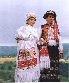 Svadobný kroj Podpoľanie - Hriňová, Slovakia Ethnic Outfits, Ethnic Clothes, Central Europe, Traditional Dresses, Folklore, Unique Weddings, Pagan, Mythology, Folk Clothing