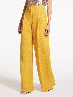 Pantalon en alpaga et soie
