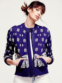 Free People Riviera Repeat Sweater Jacket at Free People Clothing Boutique