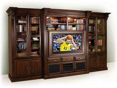 Idea for built-in entertainment center - like framed tv