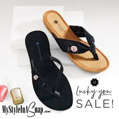 3a0b3555c26d 50% OFF Flip Flops with jewelry Snaps - Magnolia and Vine Sandals at  MyStyleInASnap.