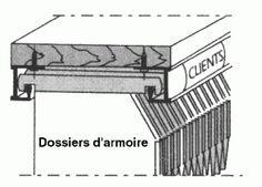 Quincaillerie Qama - Profil dossiers suspendus en aluminium - 20€ht
