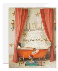 """""""Princess Edwina Takes A Bath."""" by Janet Hill Janet Hill, Cello, Art Deco Bathroom, Happy Mother's Day Card, Bath Art, Bathroom Pictures, My New Room, Happy Mothers, Oeuvre D'art"""