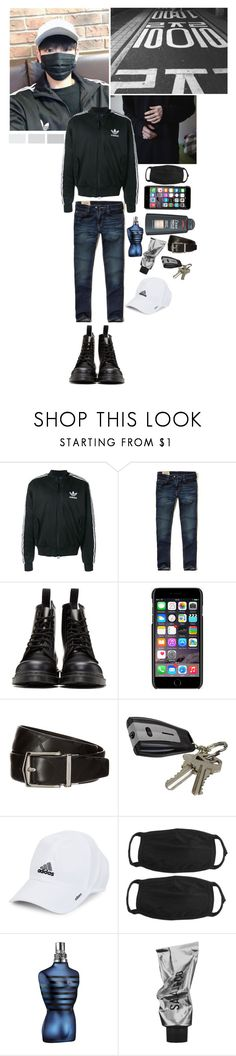 """Wonu-yah"" by chlooow ❤ liked on Polyvore featuring adidas, Hollister Co., Dr. Martens, Dolce&Gabbana, Burberry, John Lewis, men's fashion and menswear"