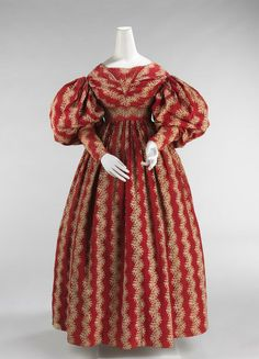 Although the 1830s fashions were an ugly shape the fabrics of this period are truly wonderful