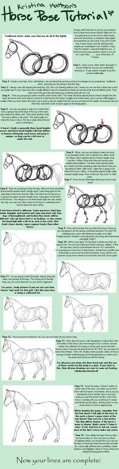 A horse pose tutorial!