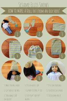 DIY :: No Knit needed American Girl doll hats!