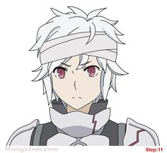 How to Draw Bell Cranel from Danmachi step 11 Danmachi Bell, Danmachi Anime, Anime Manga, Anime Guys, Anime Art, Familia Myth, Bell Cranel, Dungeon Ni Deai, Marvel Films