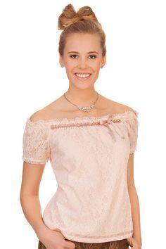 Trachtenbluse Rosalina in rosa von Krüger Dirndl Models, Shirts, Tops, Women, Fashion, Dirndl, Breien, Templates, Moda