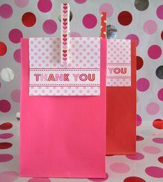 Valentine treat sack topper free printable