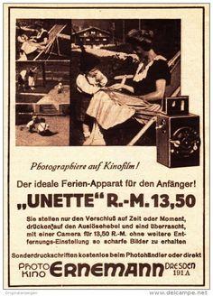 Original-Werbung/ Anzeige 1926 - ERNEMANN CAMERAS - DRESDEN - ca. 100 x 140 mm