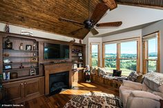 Living room of The Sylvan home plan 1321. #WeDesignDreams