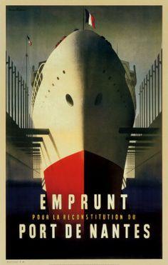 Port de Nantes Posters par Jacques Nathan-Garamond sur AllPosters.fr