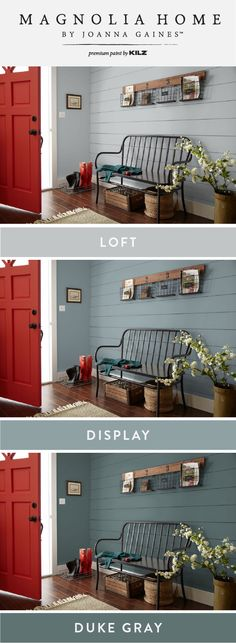 New Living Room Red Accents Farmhouse 32 Ideas Entryway Paint Colors, Red Paint Colors, Red Colour Palette, Farmhouse Paint Colors, Kitchen Paint Colors, Wall Colors, Living Room Red, Living Room Colors, Living Area