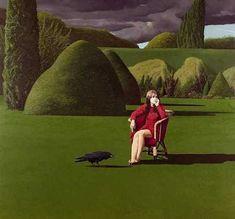 The Raven, 1971, David Inshaw. English, born in 1943.