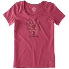 7a480893 Life is Good® Rose Berry Flip-Flops 'Livin' on a Pair' Crusher Scoop Neck  Tee