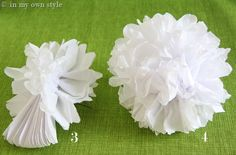 How to Make Tissue Paper Flowers | In My Own Style