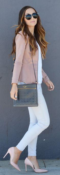 #blazer y #jean blanco, una excelente combinación!
