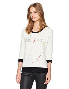 Pivaconis Womens Casual Printed Crewneck Long Sleeve Top Pullover Sweatshirts Gray X-Small