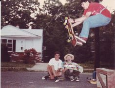 Skateboarding the launch ramp at my mom's house on 116 W. Pierson Ave. during June 1987.     www.aspectsclothing.com