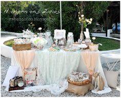 Η τέχνη της Σοφίας: Διακόσμηση βάπτισης Diy Wedding, Wedding Ideas, Table Decorations, Vintage, Beautiful, Sarah Kay, Candy Bars, Design, Home Decor
