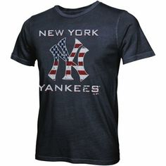 Majestic Threads New York Yankees Stars and Stripes Tri-Blend T-Shirt - Navy Blue