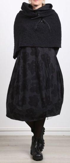 rótulo preto em rótula - vestido de camisa em forma de balão com impressão preta impressa - inverno 2017