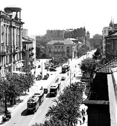 Mało znane zdjęcia z ulic przedwojennej Warszawy - Joe Monster Beautiful Buildings, Warsaw, Homeland, Old Photos, Funny Pictures, Places To Visit, Street View, Europe, Black And White
