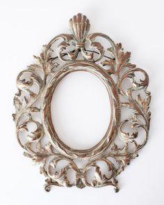 Antique cast iron frame