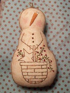 PATTERN for Primitive Stitchery Snowman Doll by thetalkingcrow, $3.00
