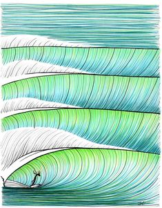 Looking for inspiration for what to buy the favourite surfer in your life? Here are 7 awesome surf gift ideas to help you choose the perfect surf gift. Art Surf, Zentangle, Wall Art Prints, Framed Prints, Vintage Surf, Line Drawing, Line Art, At Least, Waves