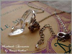 Necklace_Mini_Boots ハンドメイド*ハイヒール&かぼちゃの馬車ネックレス:ガラスの靴 インテリア 雑貨 Handmade ¥780yen 〆12月23日