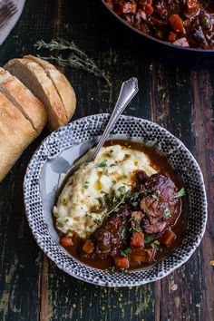 One-Pot 45 Minute Coq au Vin with Brown Butter Sage Mashed Potatoes | halfbakedharvest.com @hbharvest