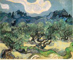 「オリーブの林」 1889   72.5 x 92 cm 個人蔵