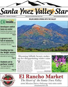Santa Ynez Valley Star April 2016! #news #santaynezvalley #april #womenpublishers #wildflowers