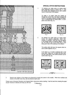 Schema punto croce Carson Mansion 05