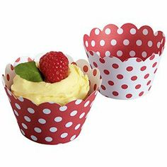 Cupcake Wraps Cherries and Cream reversible-package 50 for $9