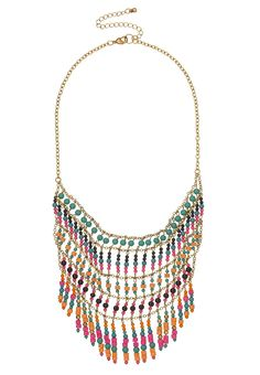Multi row seedbead bib necklace - maurices.com